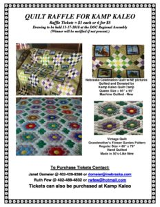 QUILT RAFFLE FLYER- NOV 2018 – Disciples of Christ in Nebraska